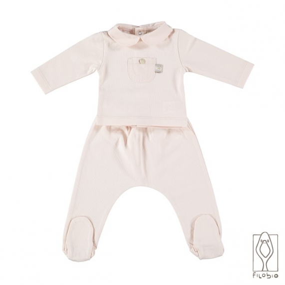 Baby footed pantsuit in organic cotton