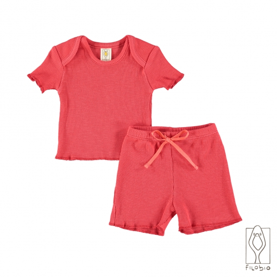 """Holiday"" baby two piece in organic cotton"