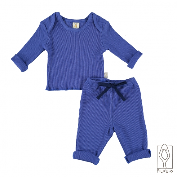 """Summer Duo"" baby two piece long sleeve in organic cotton"