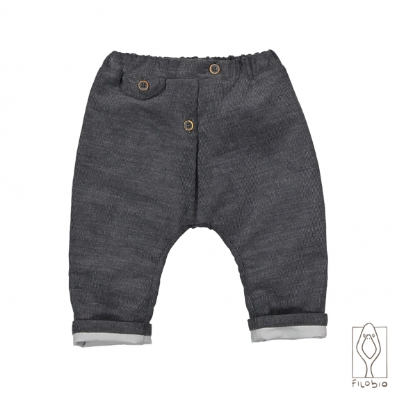 Baby trousers in cotton flannel