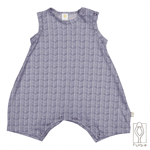 baby sleeveless rompers in organic cotton