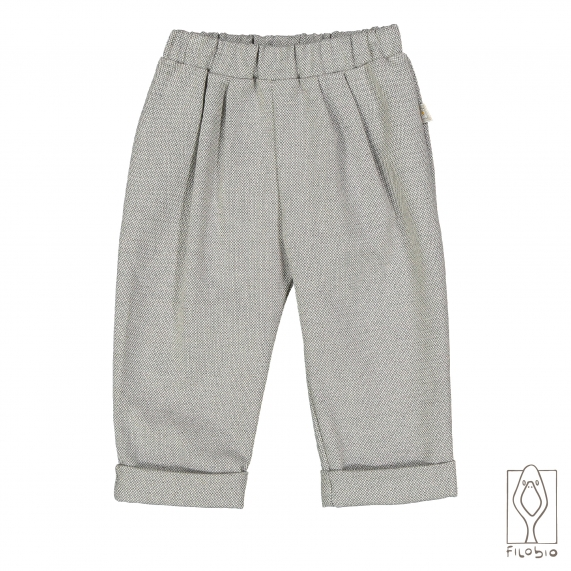 Baby girl trousers in cotton twill fabric