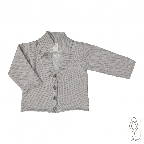 Cotton cashmere baby knitted jacket