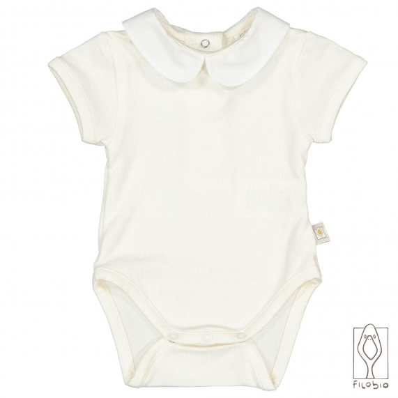 baby bodysuit short sleeves in organic cotton
