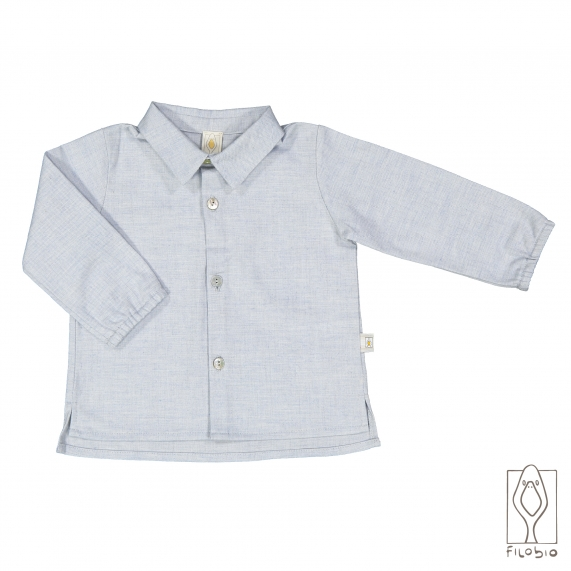 Shirt in pure cotton flannel