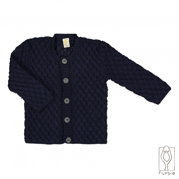 Cardigan for baby, in pure Merino wool