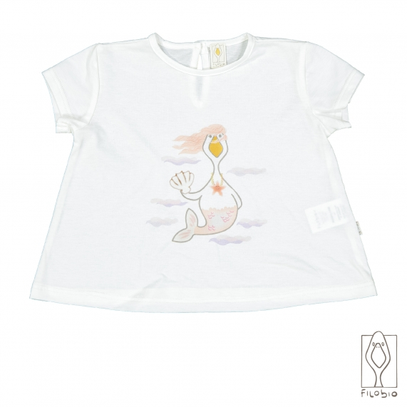 T-shirt for baby girl in orgnic cotton