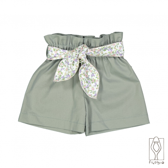 baby girl short trousers in organic cotton