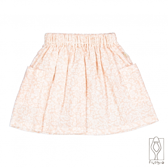 bay girl skirt in organic cotton with pocket