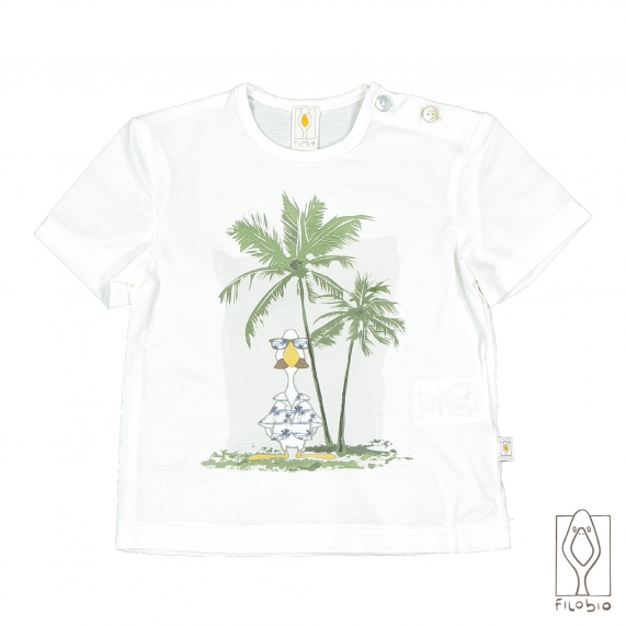 T-Shirt in cotone biologico con stampa