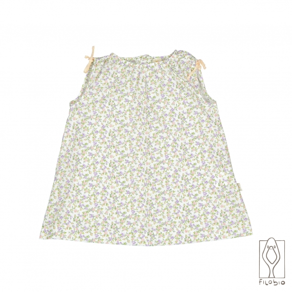 Baby girl dress in printed pure cotton
