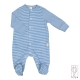 Baby onesie front open in organic cotton