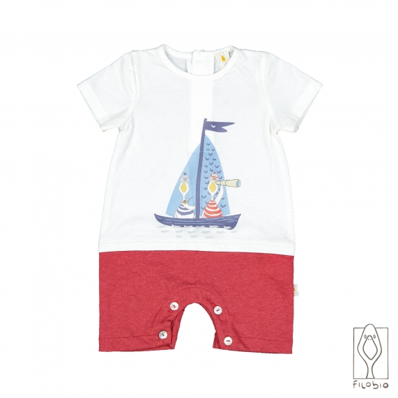 Baby rompers short sleeves in organic cotton