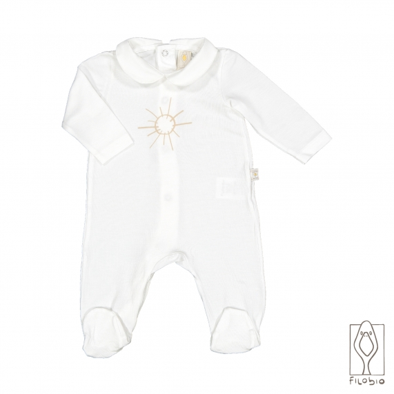 baby footed onesie with collar