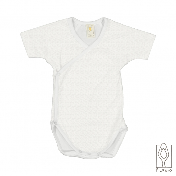 baby bodysuit front opening in organic cotton