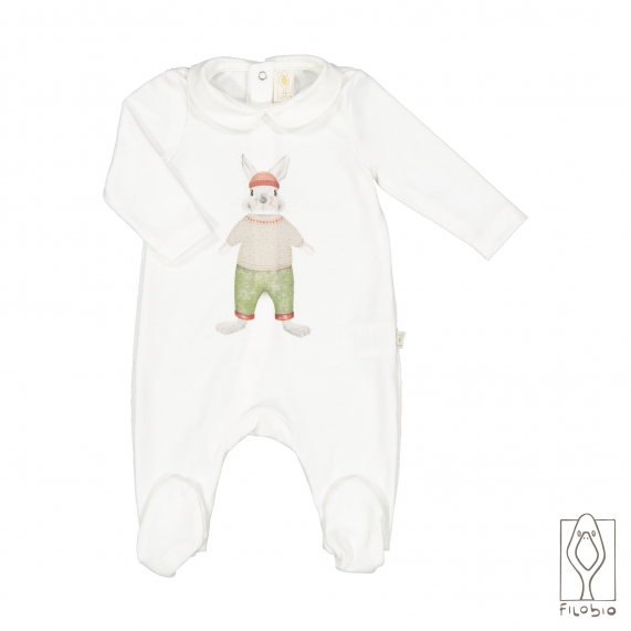 Baby onesie with print in organic cotton