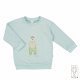 Baby sweater with print in organic cotton